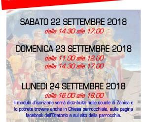 ISCRIZIONI CATECHISMO 2018-2019