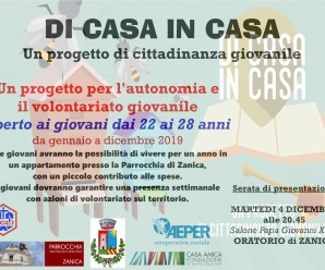 DI CASA IN CASA- un progetto di cittadinanza giovanile