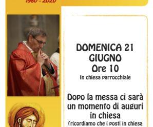 40esimo anniversario di sacerdozio di Don Alberto